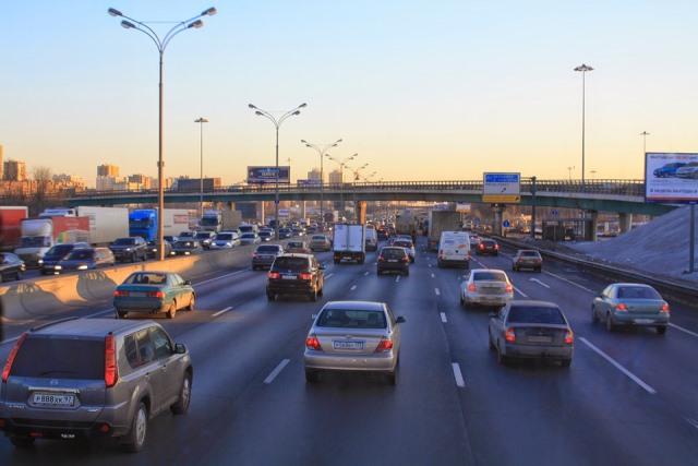moscou et son trafic routier